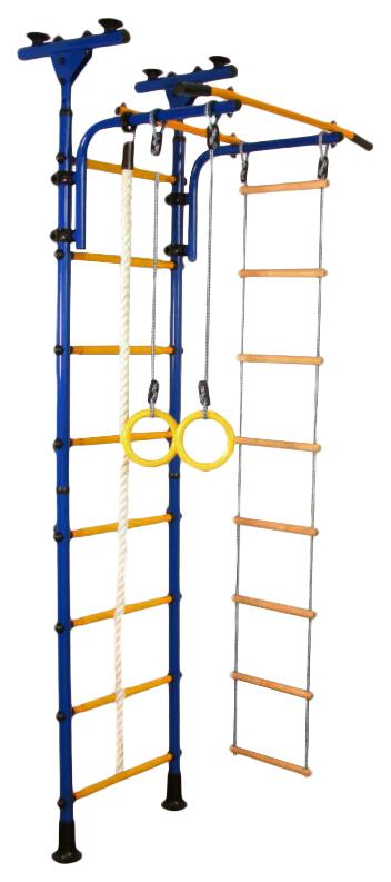 Купить Комплекс домашний спортивный Юный Атлет Пол-потолок синий желтый N0002,