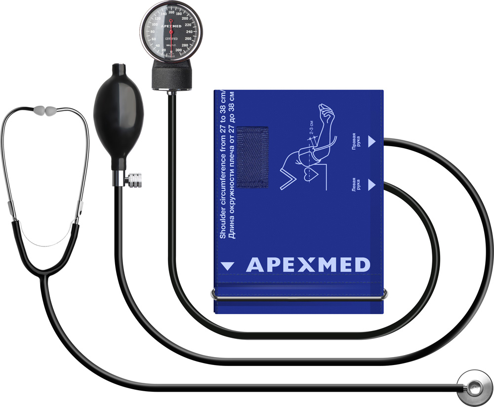 Купить Тонометр механический с большой манжетой Apexmed АТ-13, 32-44 см