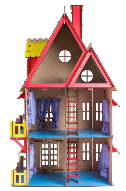 Сборная игрушка Большой слон Кукольный домик розовый