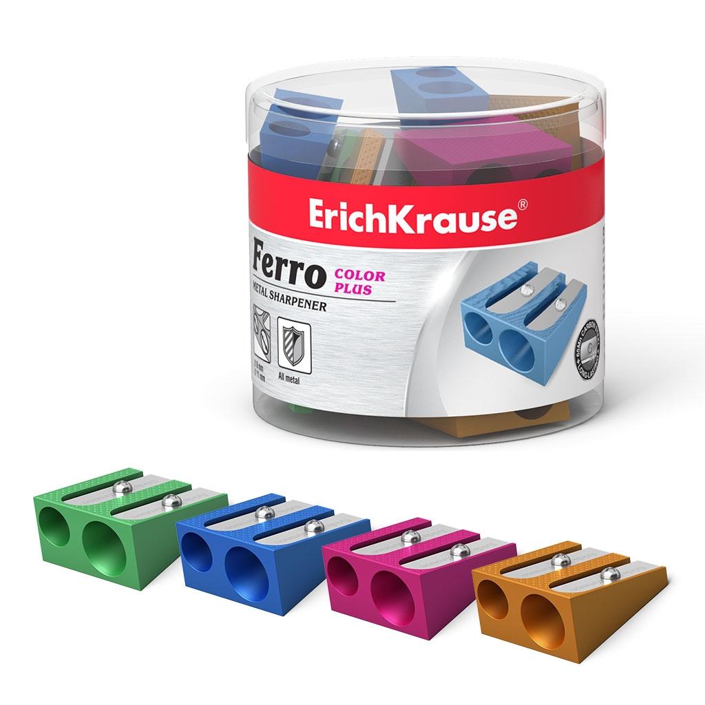 Металлическая точилка точилка ErichKrause Ferro Color Plus