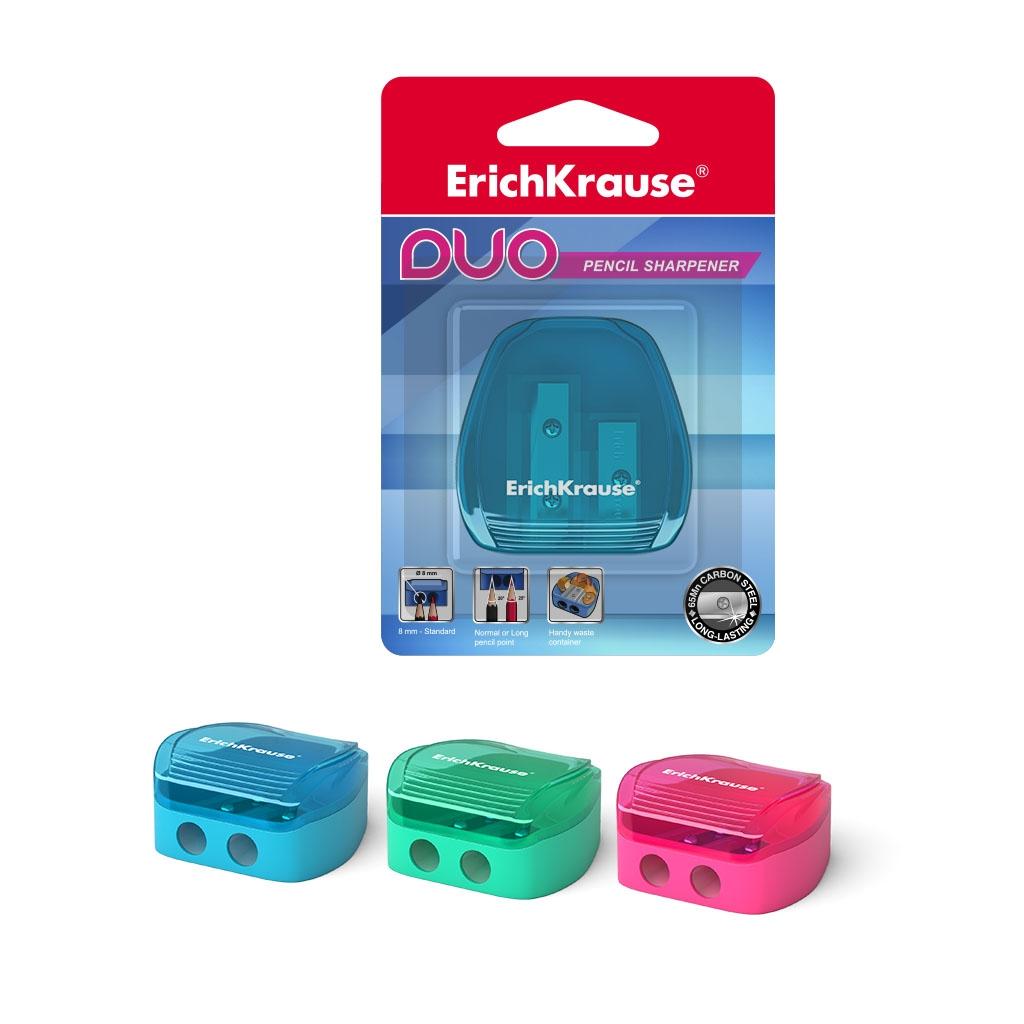 Пластиковая точилка ErichKrause Duo, два отверстия,