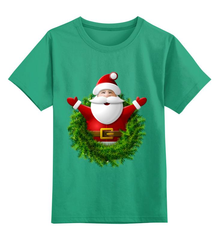 Детская футболка Printio Санта цв.зеленый р.128 0000002341567 по цене 990