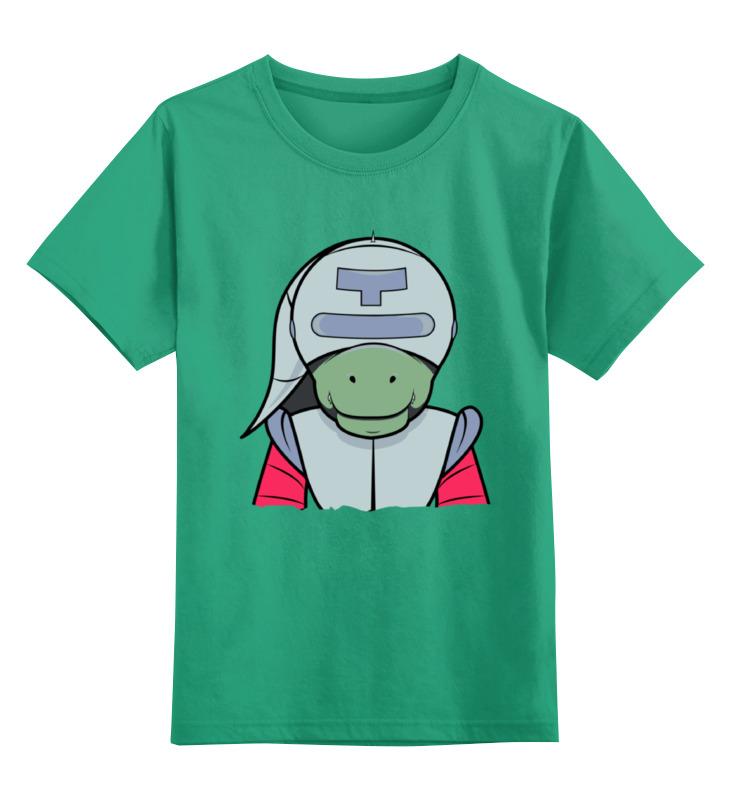 Купить 0000002354817, Детская футболка Printio The adventures of t-rex цв.зеленый р.128,