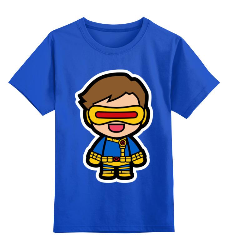 Купить 0000002440624, Детская футболка Printio Циклоп цв.синий р.128,