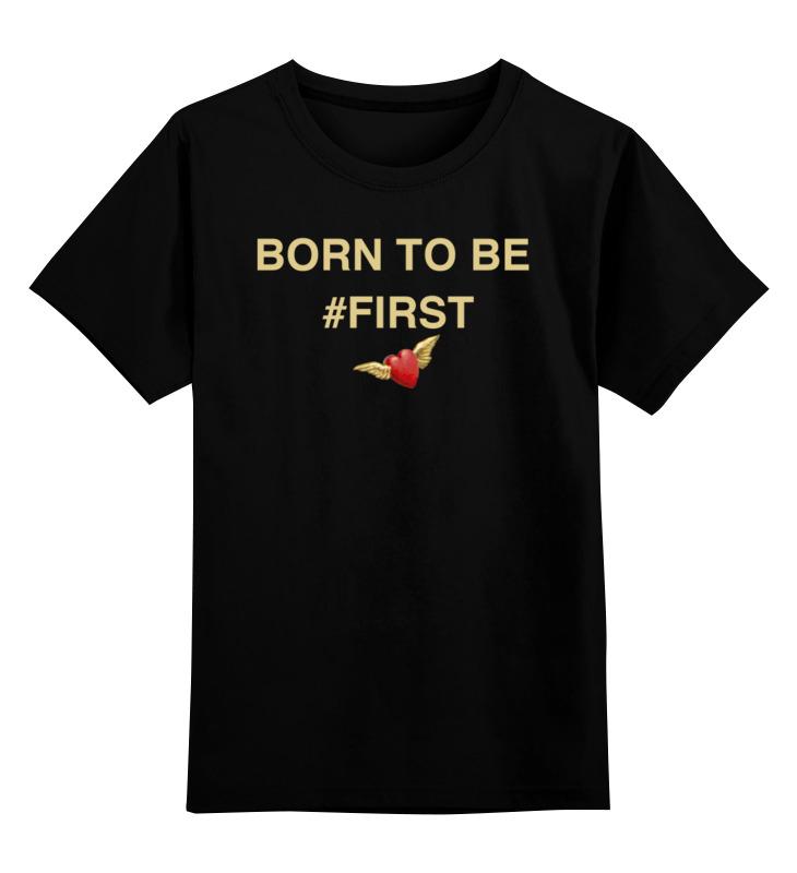 Купить 0000002544722, Детская футболка Printio Just believe in yourself цв.черный р.128,
