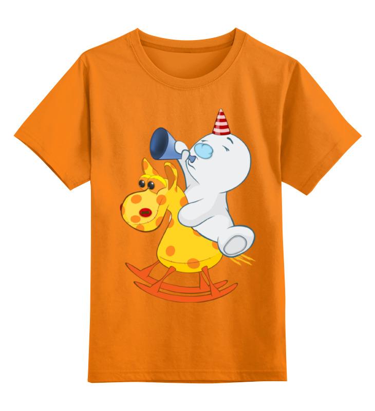 Детская футболка Printio Снеговик цв.оранжевый р.116 0000002364358 по цене 990