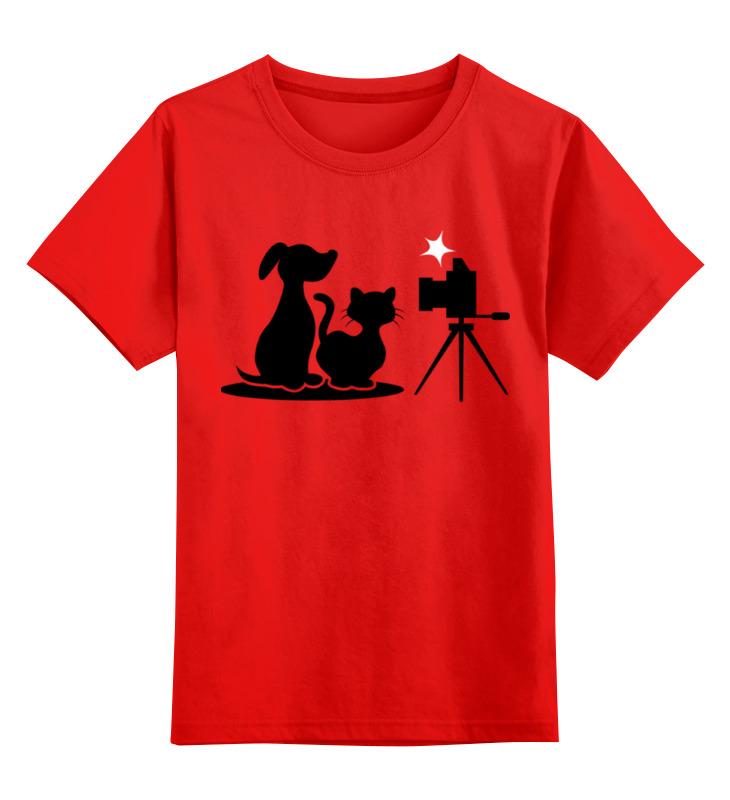 Купить 0000002324448, Детская футболка классическая унисекс Printio Пёс и кот,