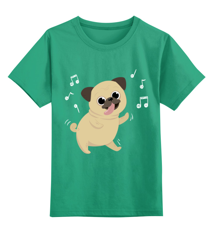 Купить 0000002338527, Детская футболка Printio Собачка цв.зеленый р.128,