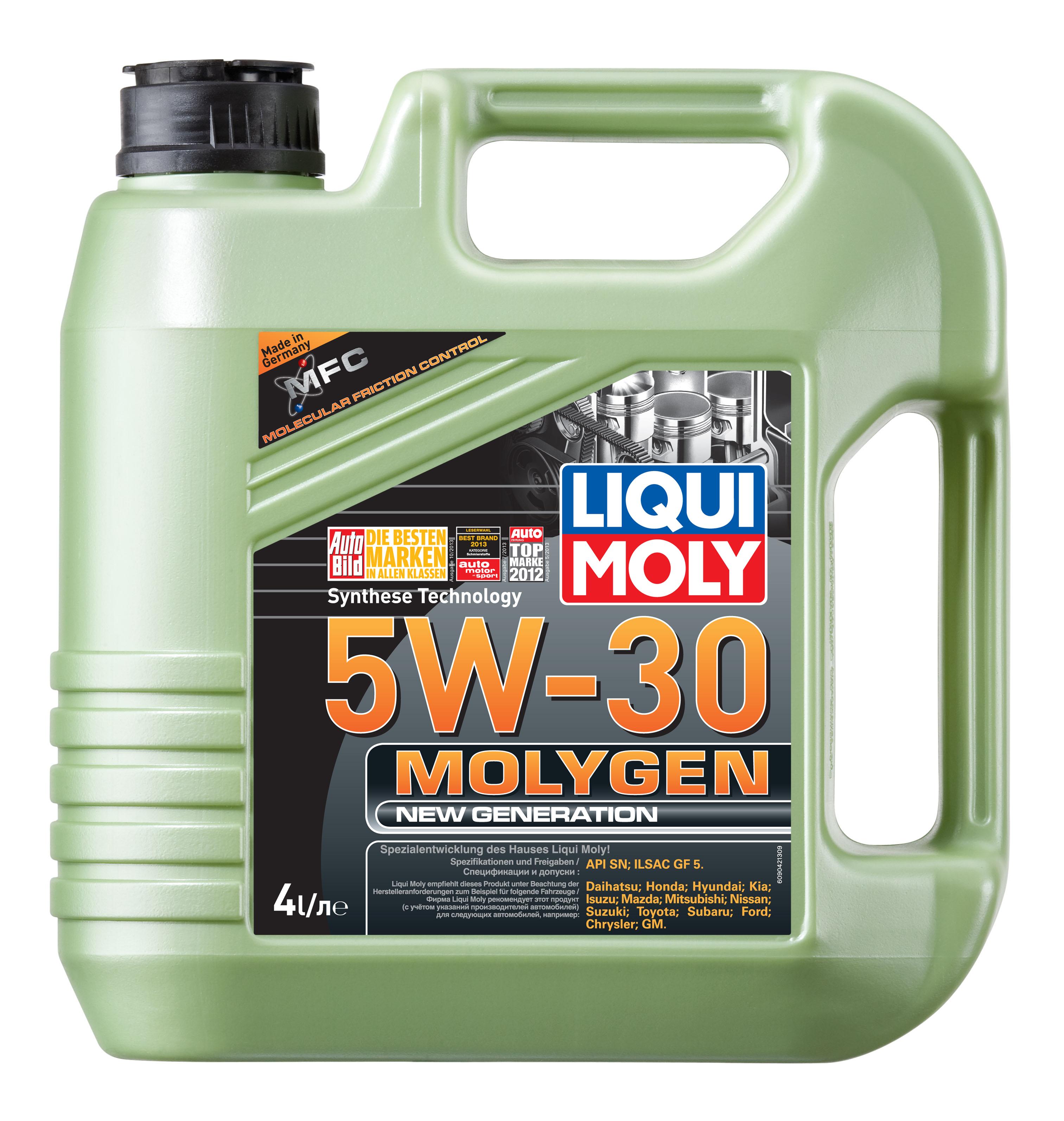 Моторное масло Liqui moly Molygen New Generation 5W-30 4л фото