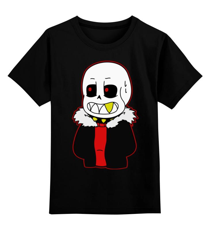 Детская футболка Printio Санс. цв.черный р.128 0000002419202 по цене 990