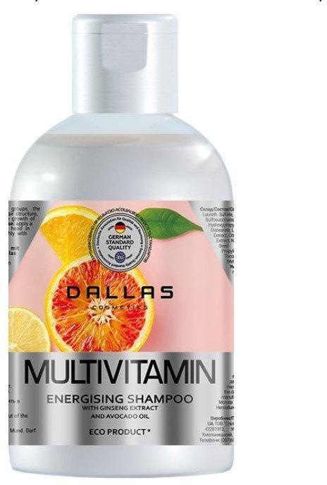 Купить Шампунь для волос DALLAS Multivitamin с экстрактом женьшеня и маслом авокадо 1000 мл