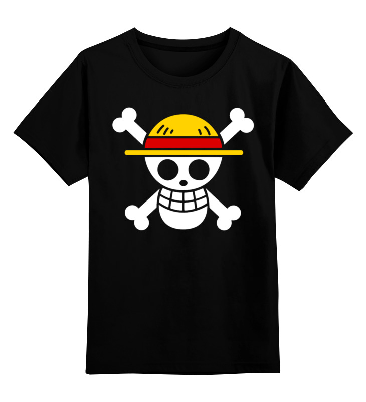 0000002448153, Детская футболка Printio One piece цв.черный р.128,  - купить со скидкой