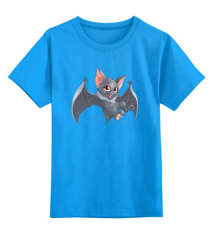 Детская футболка Printio Летучая мышка цв.голубой р.128 0000002490073 по цене 990