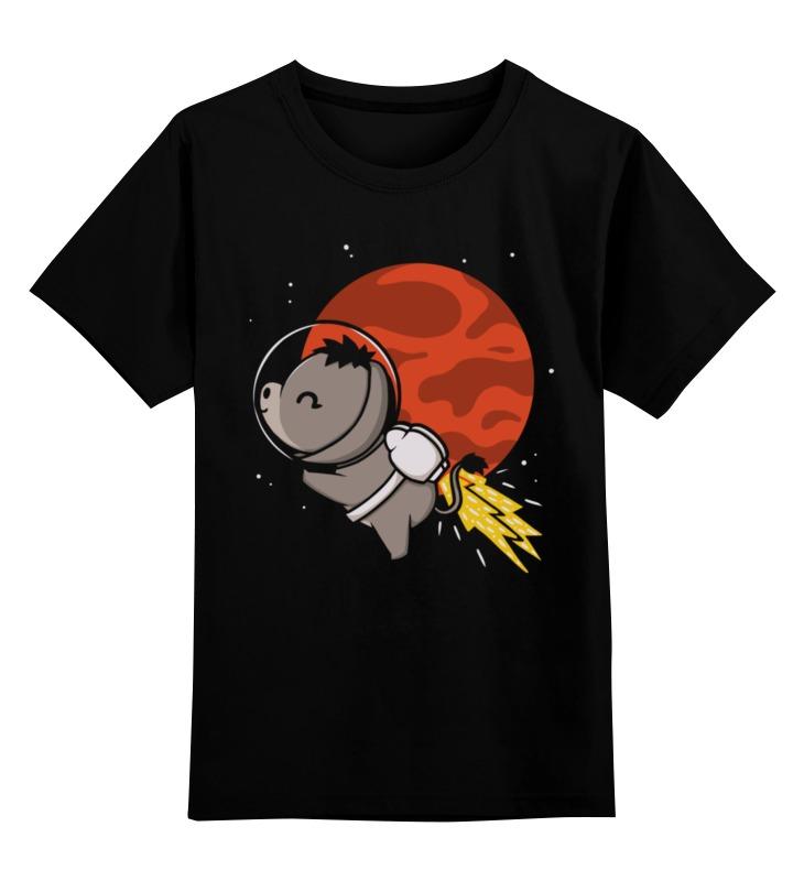 Детская футболка Printio Ослик в космосе цв.черный р.128 0000002491130 по цене 990