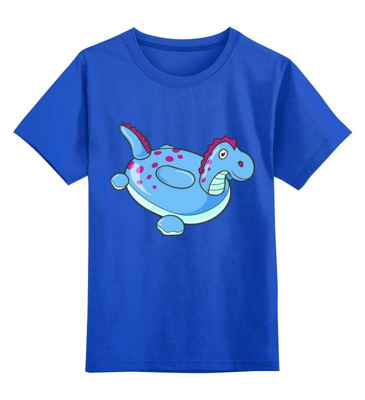 Купить 0000002493661, Детская футболка Printio Динозаврик цв.синий р.128,
