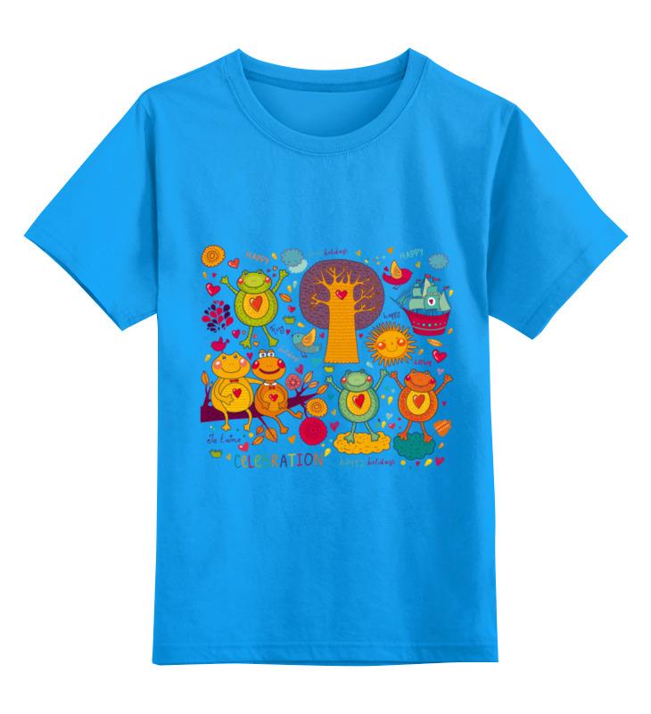 Детская футболка Printio Зверушки цв.голубой р.128 0000002501636 по цене 990