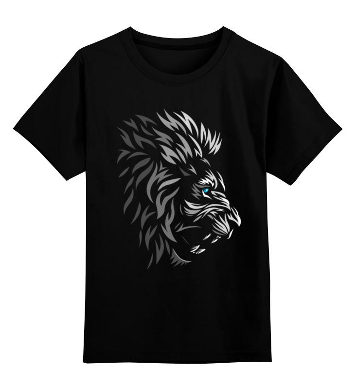 Купить 0000002559986, Детская футболка Printio Царь зверей цв.черный р.128,