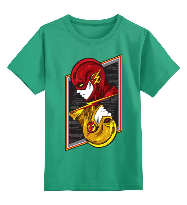 Купить 0000002363301, Детская футболка Printio Флэш. цв.зеленый р.116,