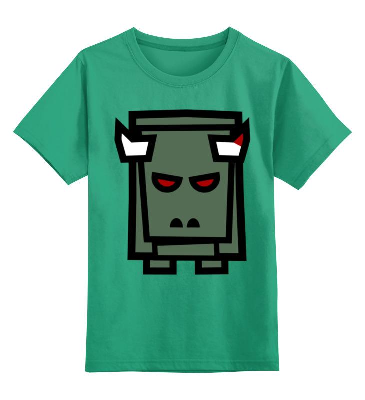 Купить 0000002386728, Детская футболка Printio Робот цв.зеленый р.116,