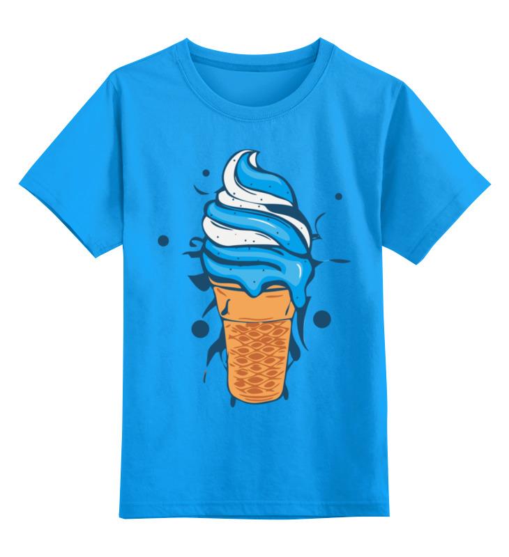 Купить 0000002435529, Детская футболка Printio Мороженое цв.голубой р.116,