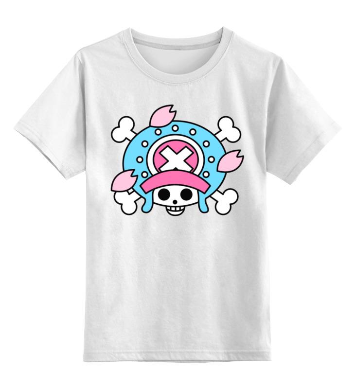 Купить 0000002447801, Детская футболка Printio One piece цв.белый р.116,