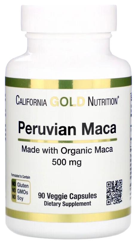 Перуанская мака 500 мг, Перуанская мака California Gold Nutrition 500 мг капсулы 90 шт.  - купить со скидкой