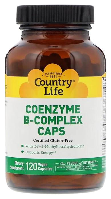 Купить Комплекс коэнзимов B Country Life капсулы 120 шт.