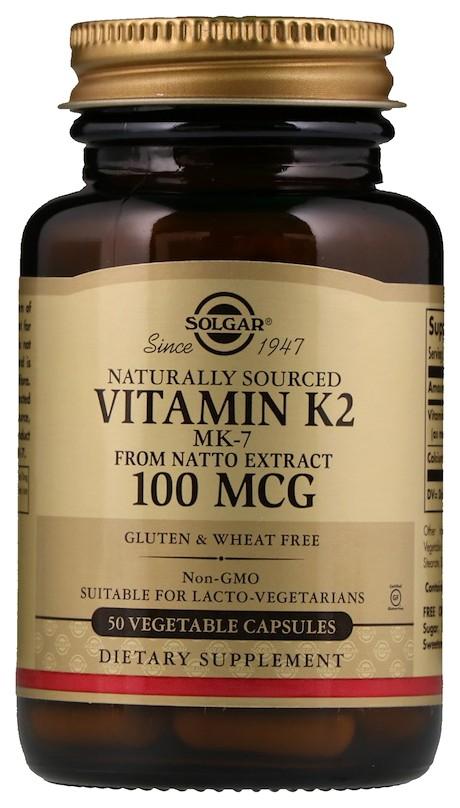 Купить Витамин К2 Mk-7 Solgar 100 мкг капсулы 50 шт.