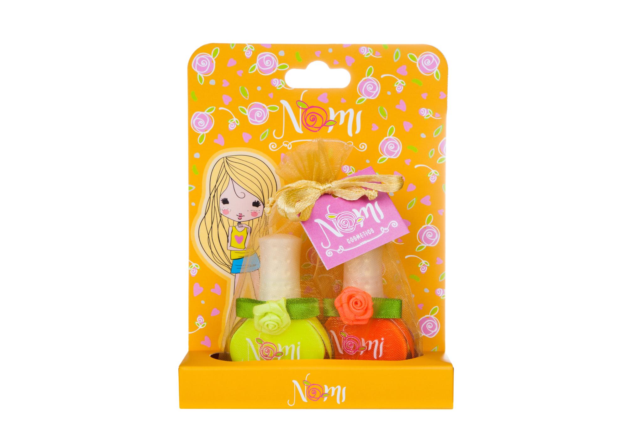 Купить 4650065-881098, Подарочный набор детской косметики Nomi № 14 лаки для ногтей, 2 шт.,