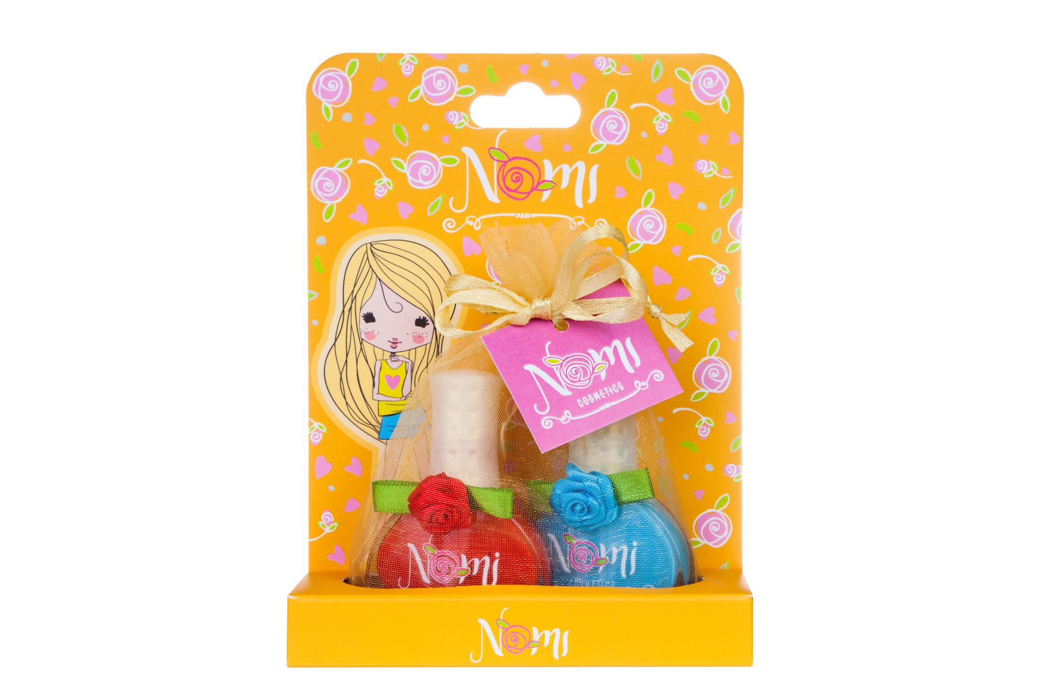 Купить 4650065-881104, Подарочный набор детской косметики Nomi № 15 лаки для ногтей, 2 шт.,