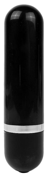 Черная удлиненная вибропуля Erokay 11 см