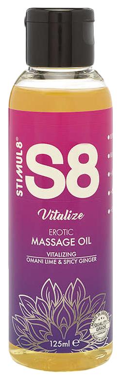 Массажное масло S8 Massage Oil Vitalize с ароматом лайма и имбиря 50 мл. фото