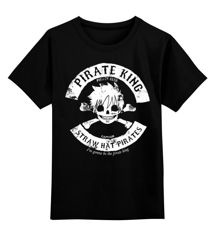 Купить 0000002447989, Детская футболка Printio One piece цв.черный р.116,