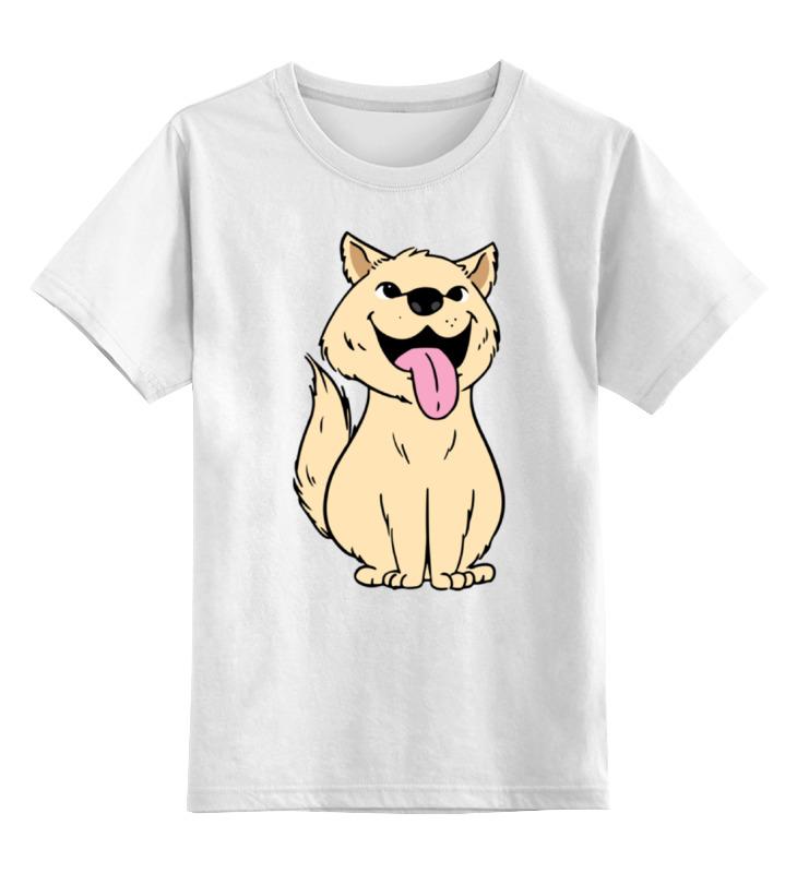 Детская футболка Printio Собачка цв.белый р.104 0000002279521 по цене 790