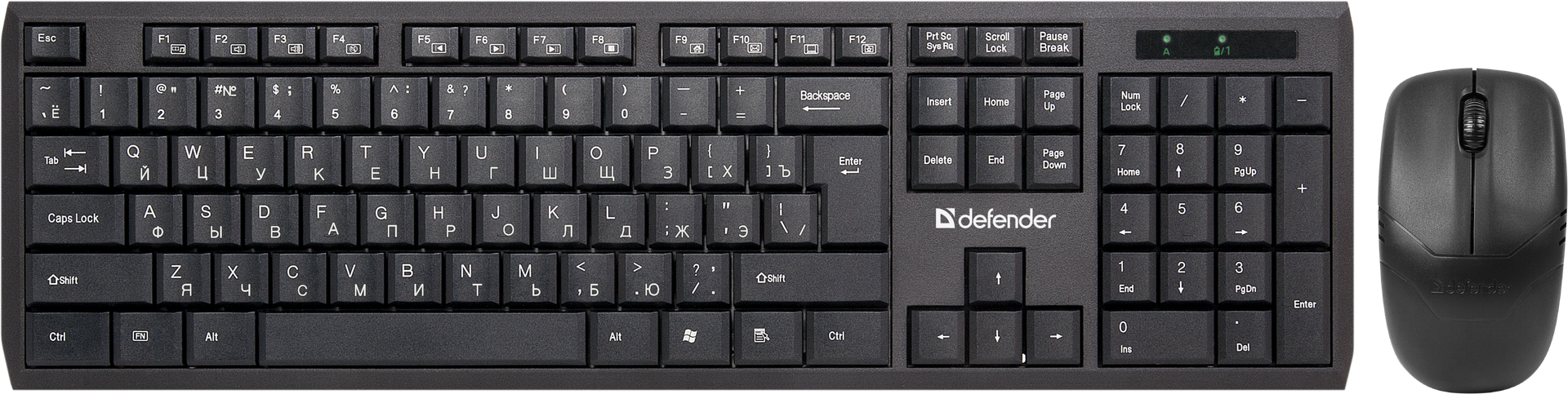 Комплект клавиатура+мышь Defender Harvard C-945 (45945)
