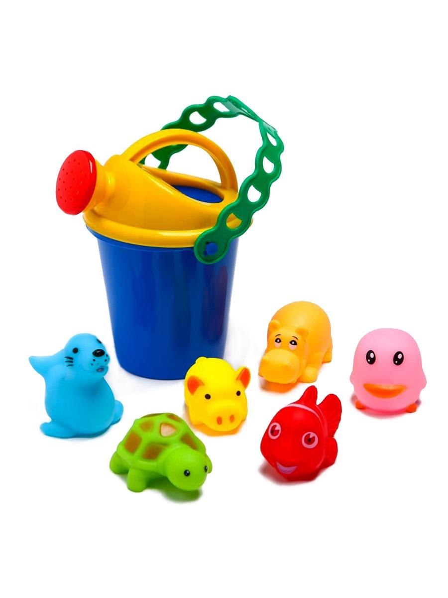 Купить Игрушки для купания с лейкой Крошка Я 6+1 шт.,