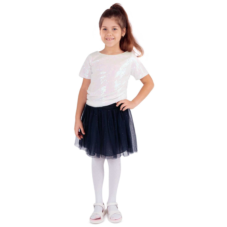 Купить Юбка для детей Santa&Barbara DS202-g4-1-319 синий 146,