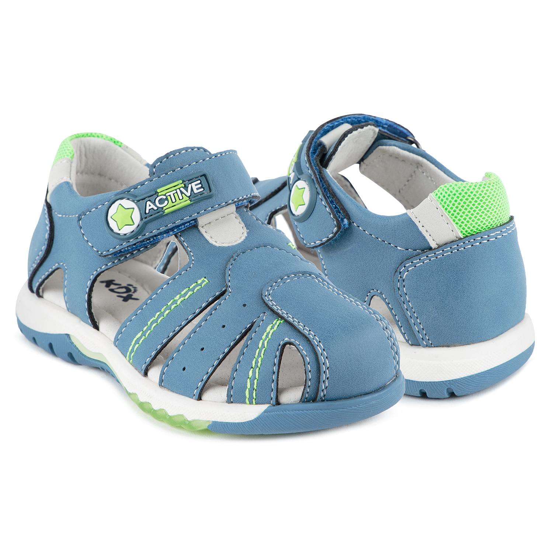 Сандалии для детей Kidix JLS21-57 blue голубой 27,  - купить со скидкой