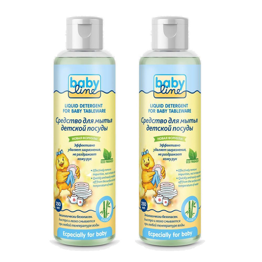 Купить Средство для мытья детской посуды Babyline 2x250 мл,