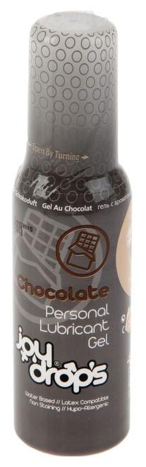 Купить Смазка на водной основе со вкусом шоколада JoyDrops Chocolate 100 мл.