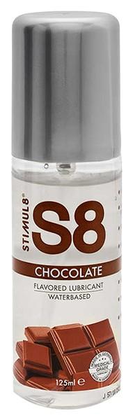 Купить Смазка на водной основе S8 Flavored Lube со вкусом шоколада 125 мл., Stimul8