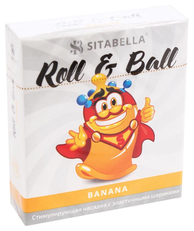 Купить Стимулирующий презерватив-насадка Roll Ball Banana, Sitabella