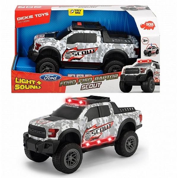 Купить Машинка Dickie Ford F150 Raptor Scout со световыми и звуковыми эффектами, 33 см, Dickie Toys,