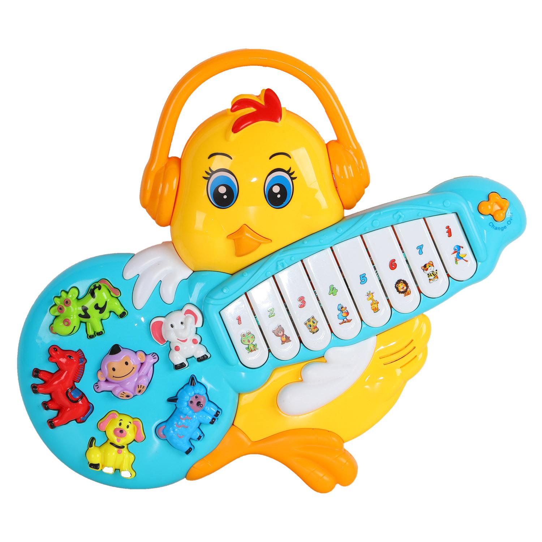 Пианино обучающее ТМ Smart Baby Цыпленок цвет желтый, 42 звука, мелодии, стихи JB0333397