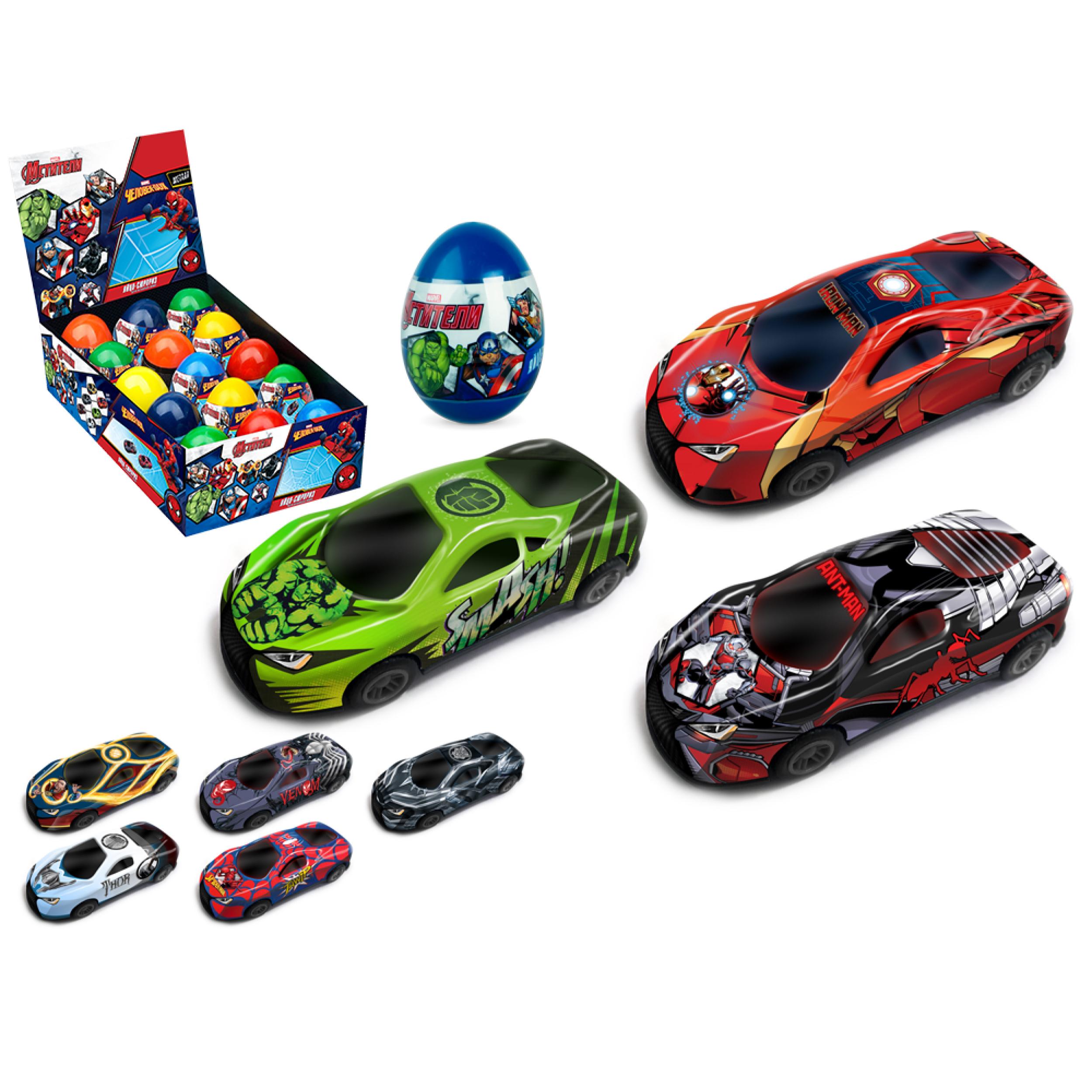 Купить Машинка Marvel Мстители в яйце, 1:48 Autotime Autogrand, Игрушечные машинки