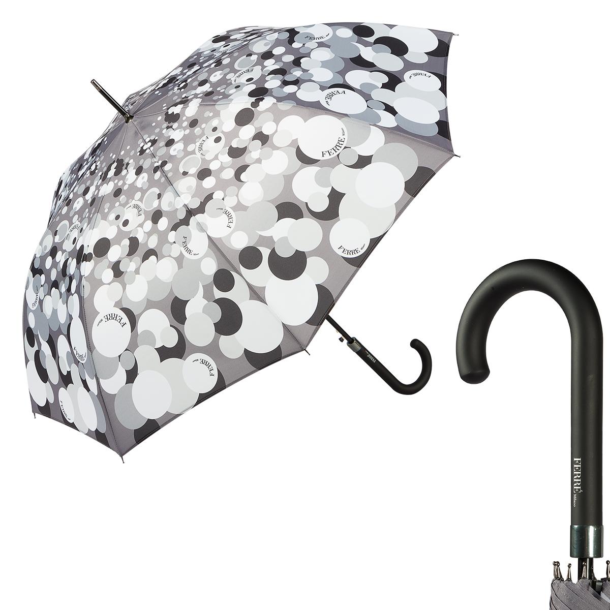 Зонт-трость FERRE MILANO 6008-LA серый