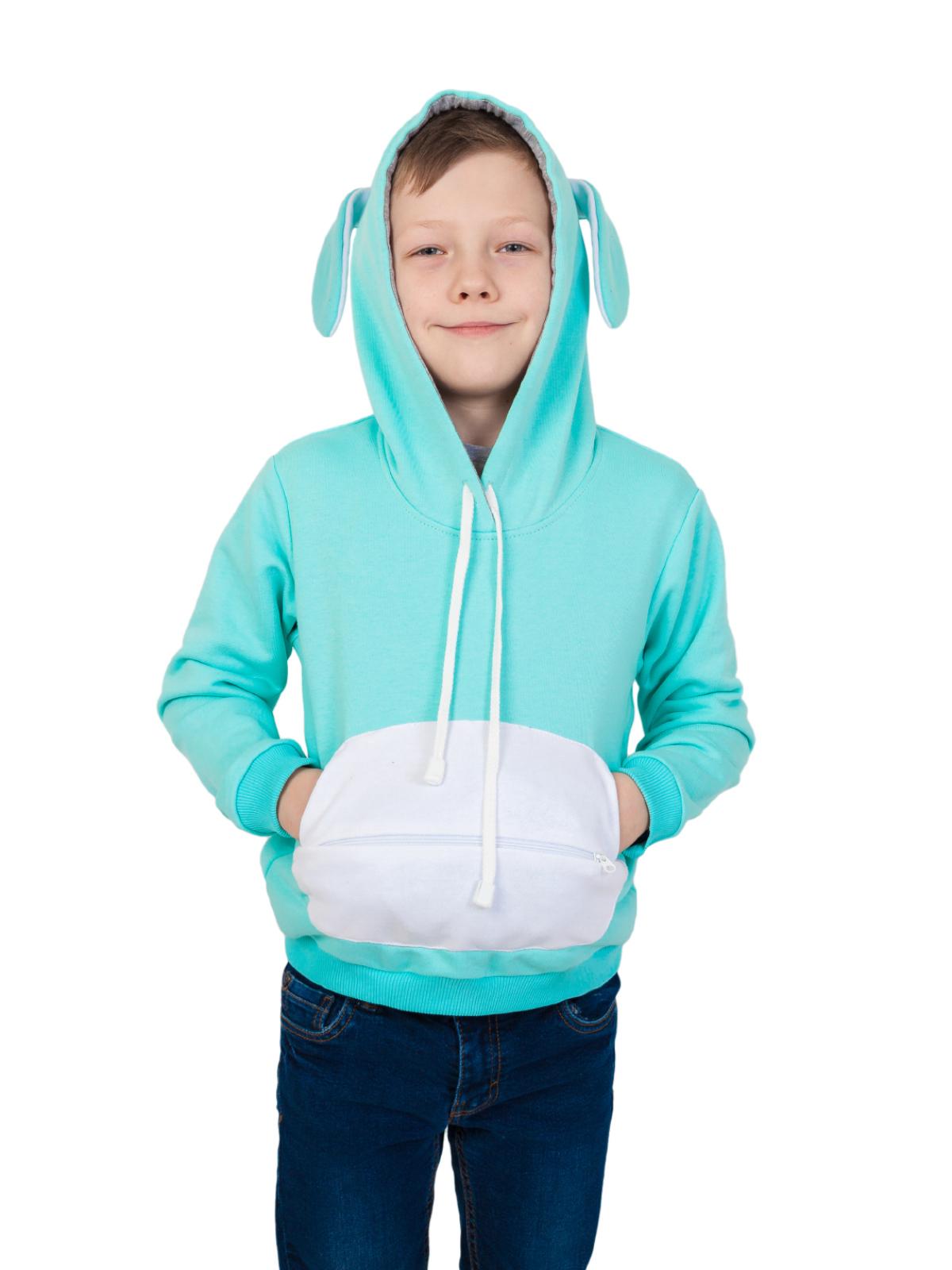 Толстовка детская с капюшоном и игрушечный Заяц