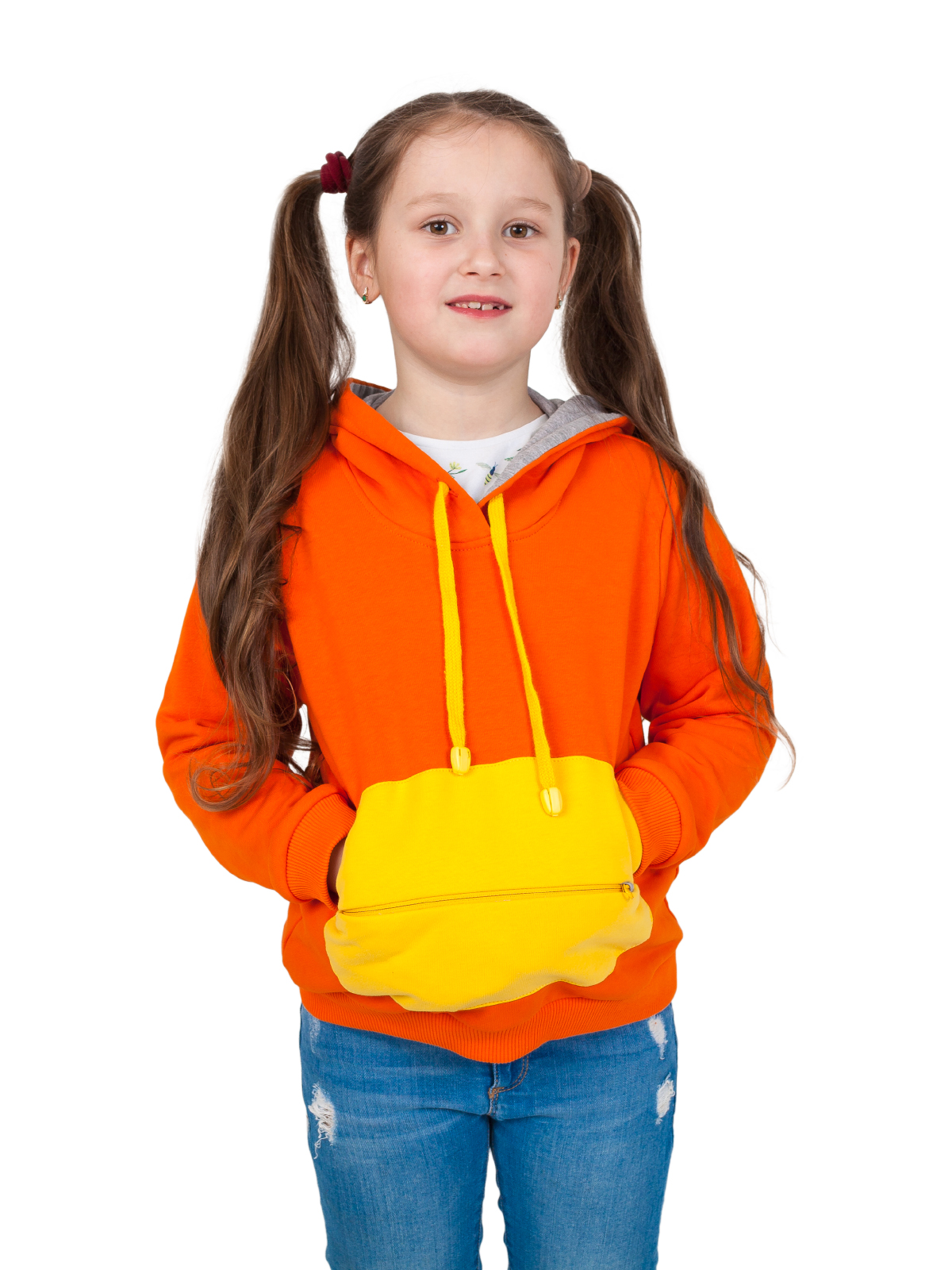 Толстовка детская с капюшоном и игрушка Мишка