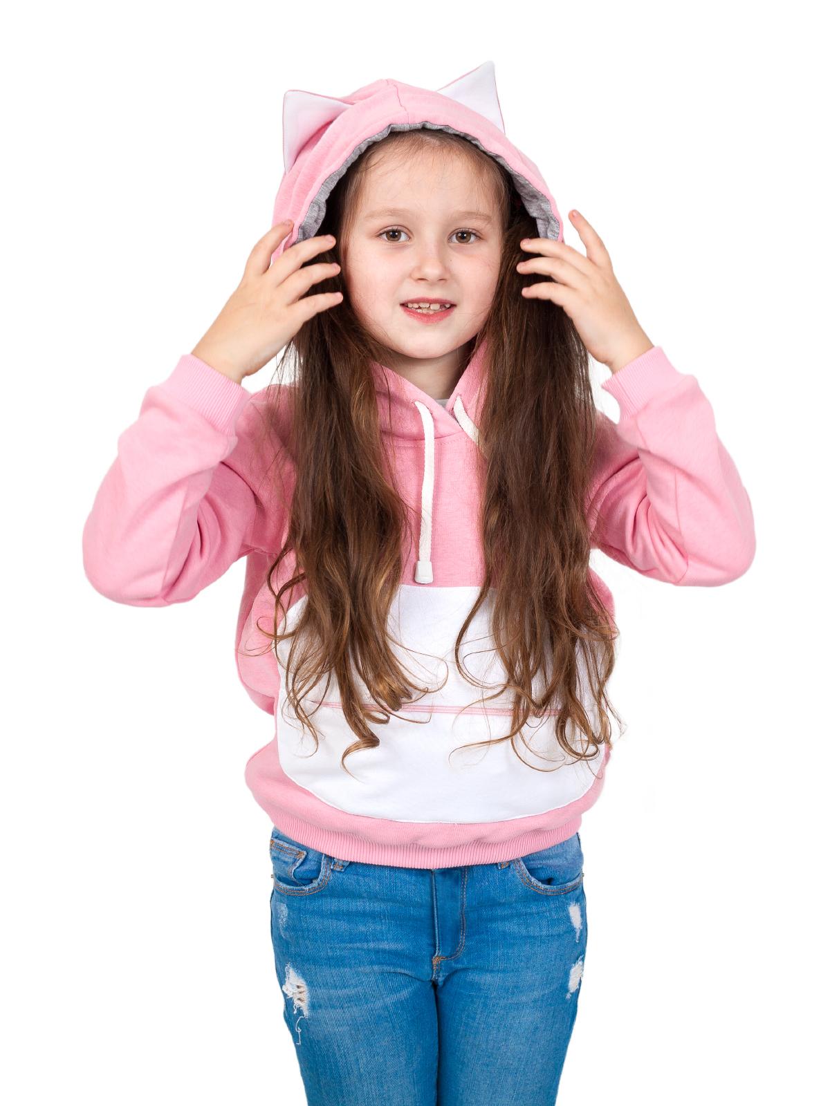 Купить Толстовка 2 в 1 с игрушкой, Обликулс Next 2 в 1: Толстовка с капюшоном Лео и Тиг «Редьяра Pink», цв. Розовый, р.128, Oblicools,