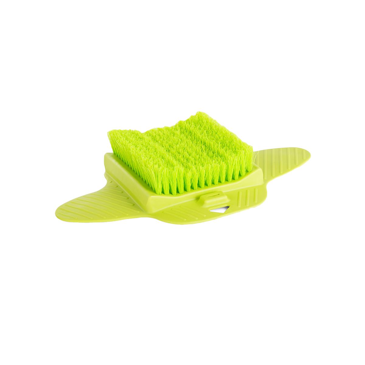 Напольная щетка для ног, зеленый, 36х23,3х6,5